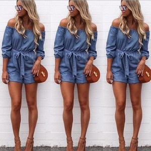 Fashion Cowboy Off Shoulder Bodysuit