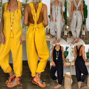 Women's Fashion Loose Jumpsuit