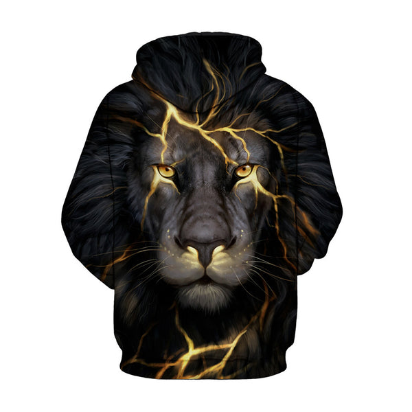 Black Lion Digital Printing Hooded couple sweater Hoodie