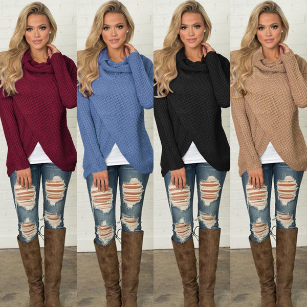 Long Sleeve Versatile Knit Top Sweater