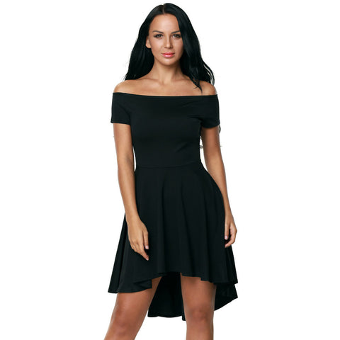 Sexy Strapless Short Sleeve Evening Dress