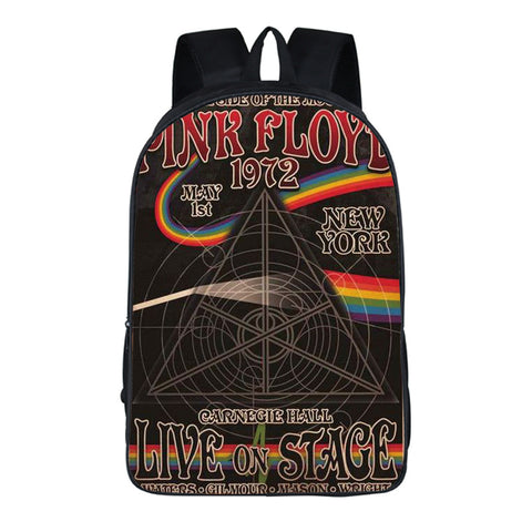 Pink Floyd Dark Side of the Moon School Book Bag Comfortable Backpack