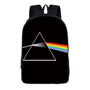 Pink Floyd The Dark Side of the Moon School Book Bag Comfortable Backpack