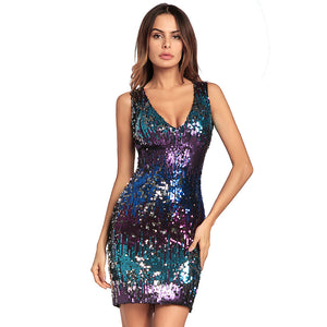 Sleeveless Sequin Sheath Dress