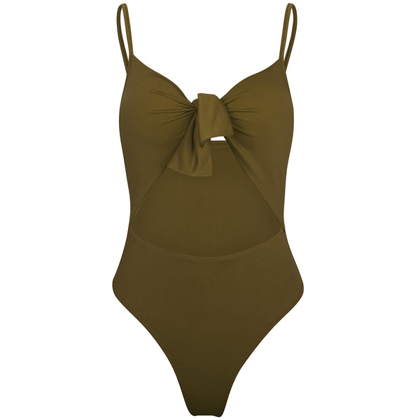 Knotted One-Piece Swimsuit