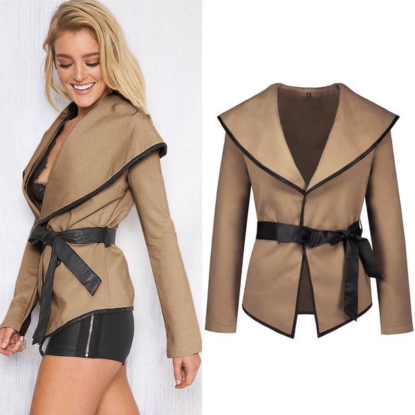 Women Sexy Sling Open with Belt Coat