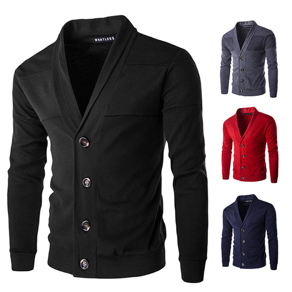 Solid Color Single Breasted Cardigan
