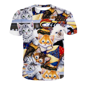 0b73b06653fd7 3D Cute Cat Print Short Sleeve Men s T-Shirt – Pink-Always