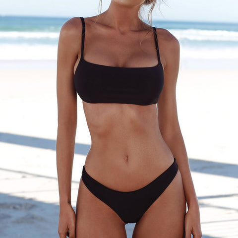 Low Rise Sexy Solid Color Bikini Suimsuit
