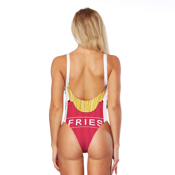 FRIES High Cut Cross Back One-piece Swimwear
