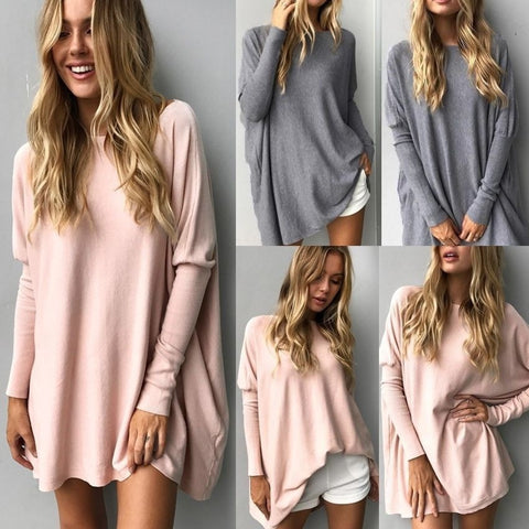 Autumn Round Neck Long Sleeve Loose Casual T-shirt