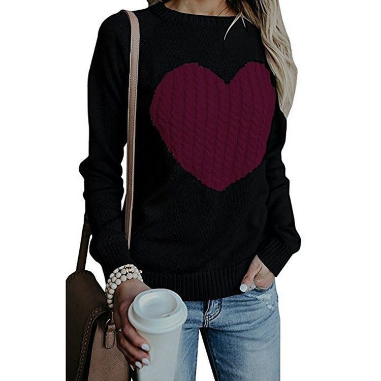 Fashion Autumn & Winter Love Knitted Sweater