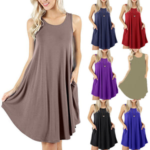 Casual Swing Simple T-Shirt Loose Dress