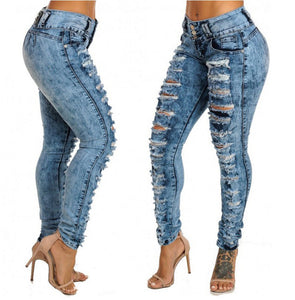 Casual Destroyed Ripped Distressed Skinny Denim Jeans