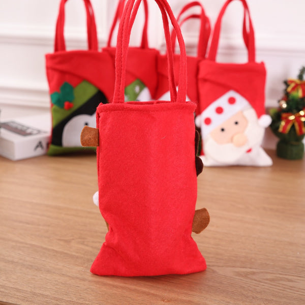 Christmas Eve Gift Bag / Christmas Tote Bag/Candy Bag Handbag /Home Party Decoration Gift Bag