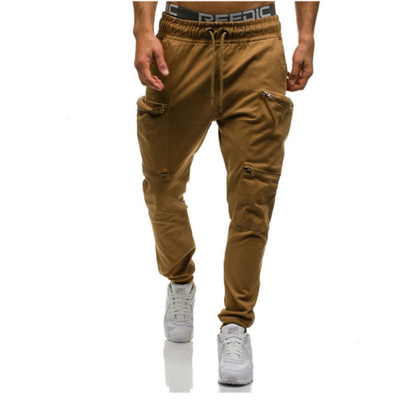 Zippers Drawstring Jogger Pants