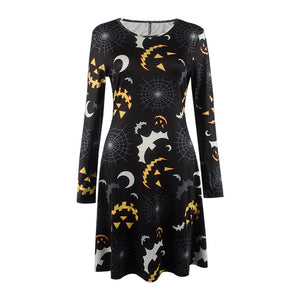 Halloween Bat Print Dress