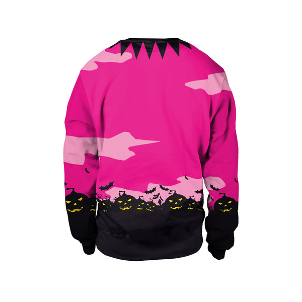 3D Digital Print Halloween Day Long Sleeve Comfort Sweatshirt