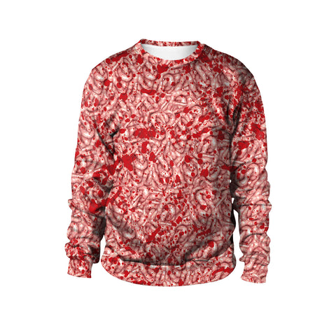Halloween Realistic Locust Print Autumn Neutral Round Collar Sweatshirt