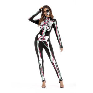 Halloween Cosplay Printed Party Bodysuits Jumpsuits