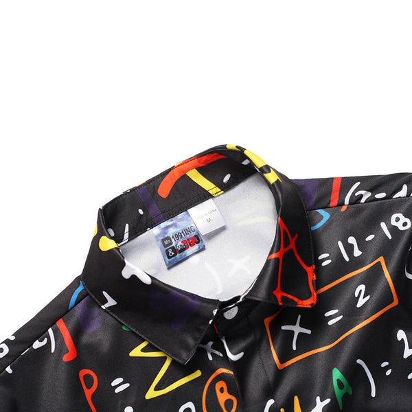 Plus Size Men's 2018 Formula Print Shirt