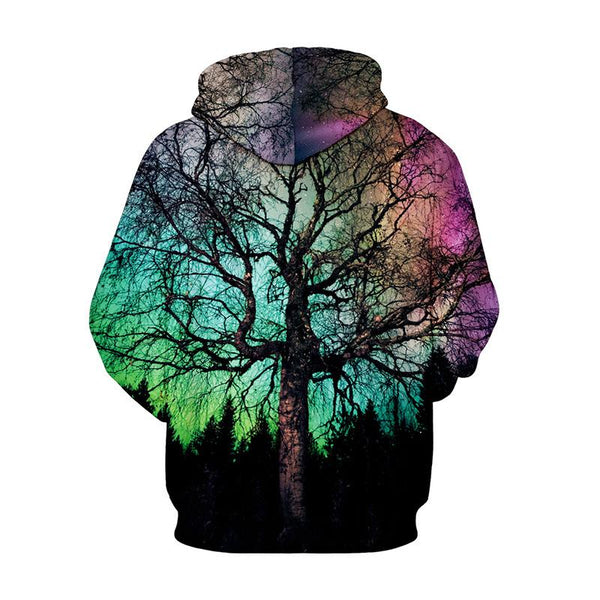 Digital Printed Pullover Hooded Loose Sweatshirt