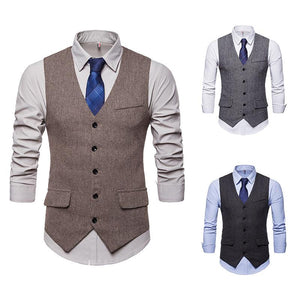 Fashion Men's Men's Single Breasted Suit Vest Waistcoat