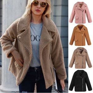 Women's Faux Fur Fluffy Coat