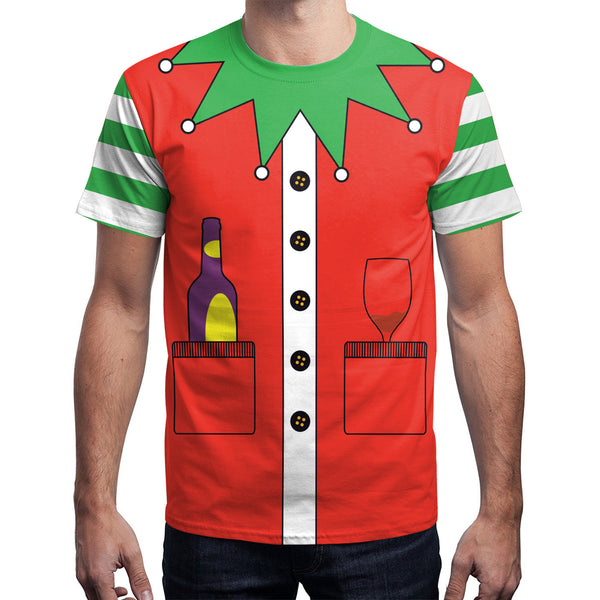Funny Ugly Christmas V-neck Men Women Christmas Print T-Shirt Tees Tops