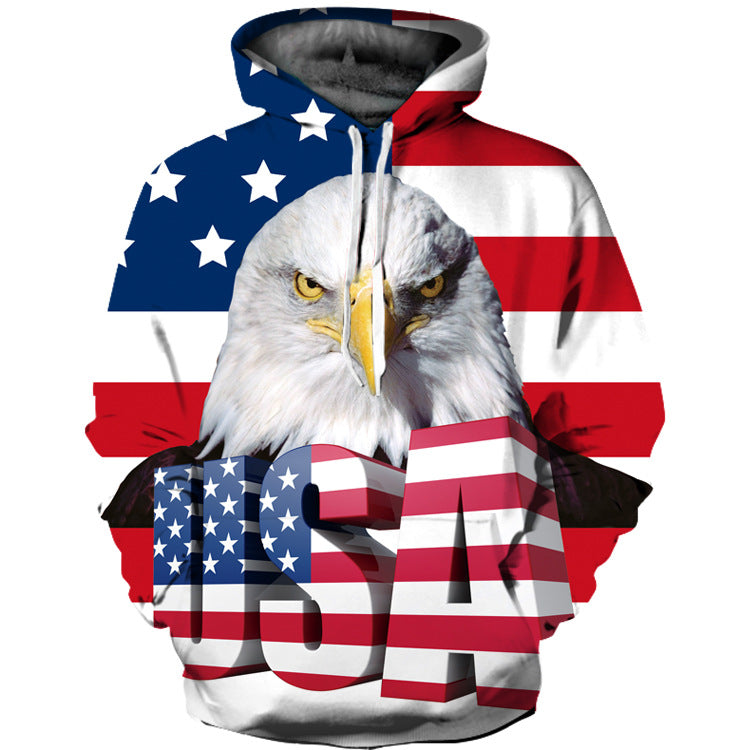 Eagle Printed Hooded Loose Couple hoodie Sweatshirt
