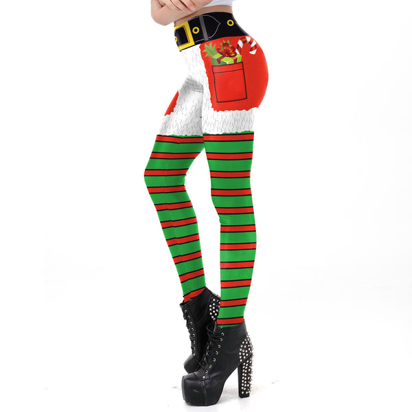 Christmas Print Slim-fit Leggings