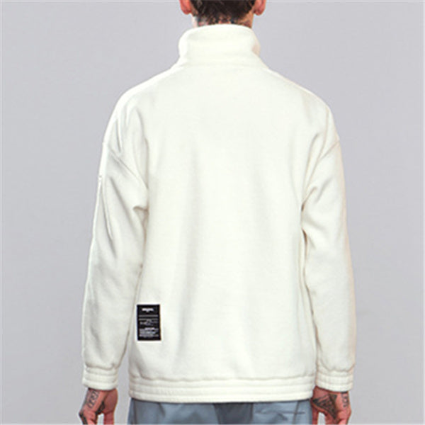High Collar Embroidered Mier Sweater