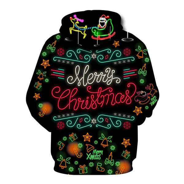 Christmas Printed Loose Sweatshirt