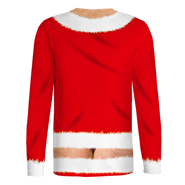 Funny Belly Print Ugly Christmas Men Christmas T-shirt Sweatshirt Sweater Top
