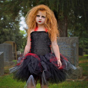 Girls Halloween Princess Skirt Cosplay Tutu Kids Dress Children's Dress
