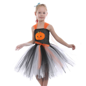Girls Pumpkin Dress Halloween Girls Dress Kids Dress Children's Dress