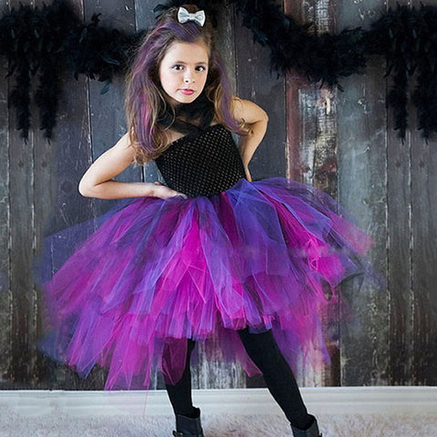 Girls Halloween Girls Splicing Mesh Tutu Princess Dress Children's Dress Kids Dress