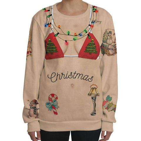 3D Digital Printed Christmas Ladies Long Sleeve T-shirt