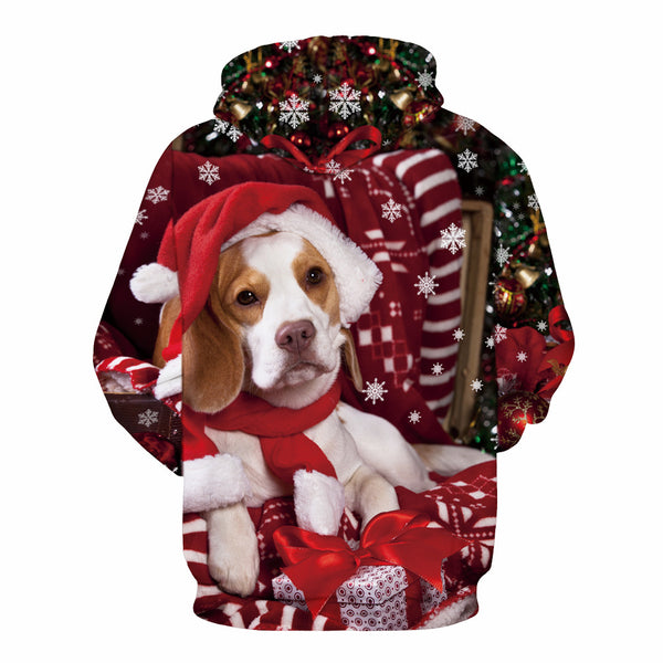 Dog Print Pullover  Christmas Sweatshirt