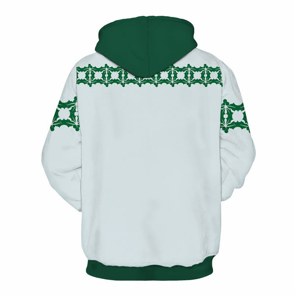 Christmas Printed Hooded Xmas Sweatshirt