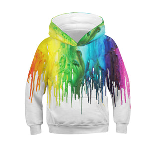 Children's Oil Painting Print Hoodie