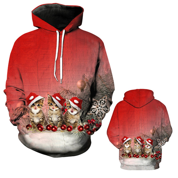 Christmas Printed Loose Xmas Sweatshirt