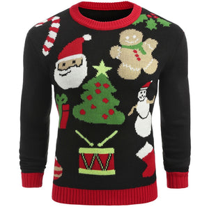 Casual Christmas Pullover Crew Neck Sweater