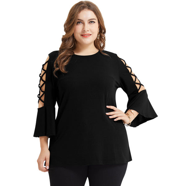 Plus Size Ribbed T-shirt