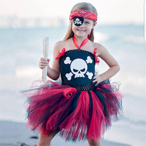 Girls Girls Princess Dress Festival Ball Pirate Performance Costume Tutu Skirt Dress Kids's Dress