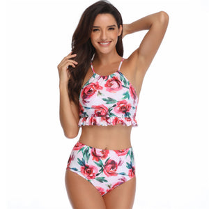 Parent-child Swimsuit Family Matching Swimwear Cute Tankini