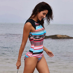 Sleeveless Zipper Wetsuit and Surfing One Piece Swimsuit