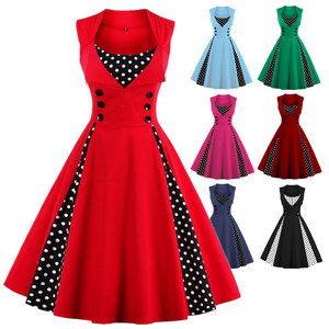 Polka Dot Prom Rockabilly Swing Vintage Prom Dresses