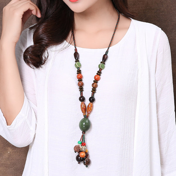 Handmade Long Retro Ethnic Style Necklace