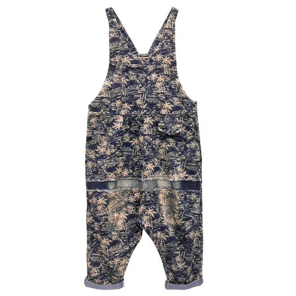 Loose Print Casual Denim Overalls Jumpsuit